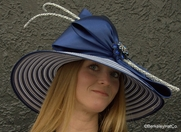 Women's Striped Derby Day Hat