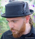 Wool Felt Pork Pie Hat