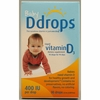 D Drops Liquid Vitamin D3 Baby - 400 IU - 0.08 fl oz