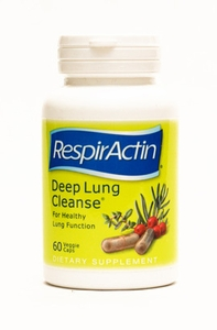 Deep Lung Cleanse 60 Capsules RespirCaps for the Respiratory System from the Makers of RespirActin