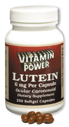 Vitamin Power Lutein 6 mg With Zeaxanthin 300 mcg Carotenoids