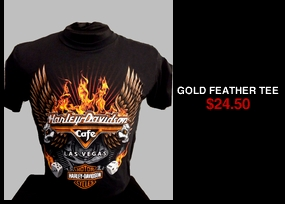 Gold Feather Tee