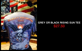 Grey or Black Rising Sun Tee