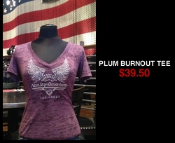 Plum Burnout tee