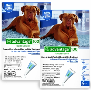 12 MONTH Advantage Blue: For Dogs Over 55lbs.
