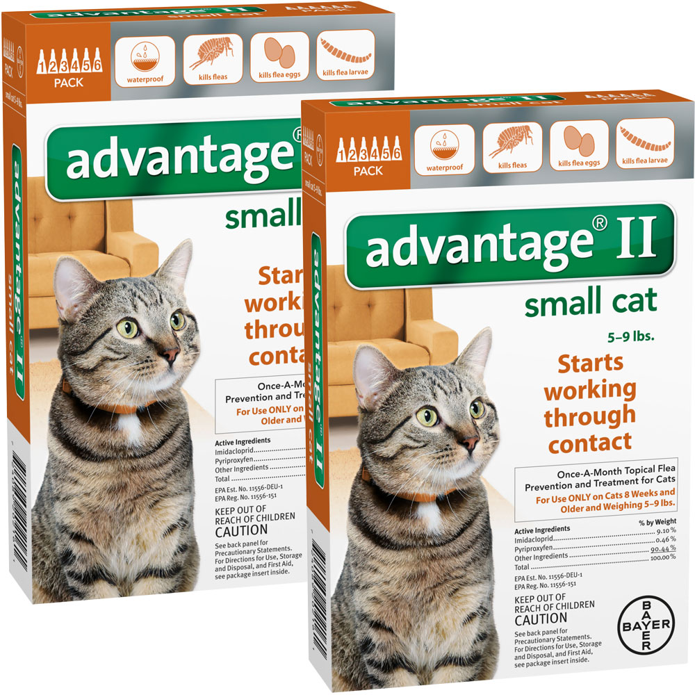 12 MONTH Advantage II Flea Control Medium Cat (for Cats 5-9 lbs.)