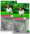 12 MONTH K9 ADVANTIX Green (for dogs up to 10lbs.)