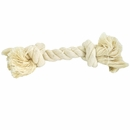 2 Knot Small Tug Rope Bone - White (5 inch)