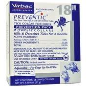 """2 PACK Preventic Tick Collar 18"""" for Dogs up to 60 Lbs"""