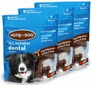3-PACK 3M Nutri-Dog All Natural Dental Chews MEDIUM (27 ct)
