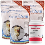 3 PACK Glyco Flex III (360 SOFT CHEWS) FREE Joint Treats