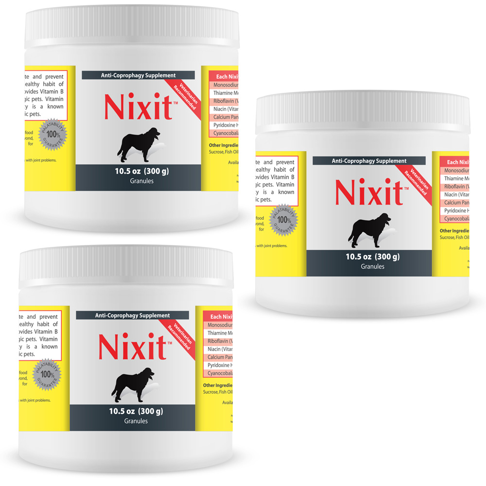 3 Pack Nixit Stool Eating Preventative 10 5 Oz