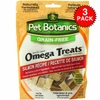 3 PACK Pet Botanics Healthy Omega Treats - Salmon (15 oz)