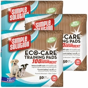 3-PACK Simple Solution ECO-CARE Training Pads (150 Pack)