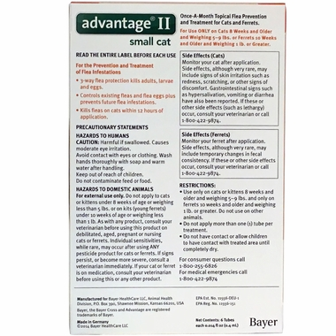 6 MONTH Advantage II Flea Control Medium Cat (for Cats 5-9 lbs.)