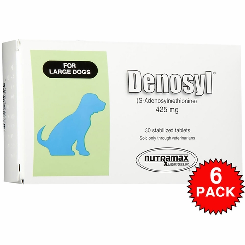 6 Pack Denosyl� for dogs over 35 lbs (180 tablets) 425 mg