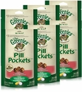 6-PACK GREENIES Pill Pockets for Cats Salmon Formula 9.6 oz (270 count)