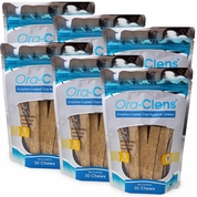 6-PACK Ora-Clens® Oral Hygiene Chews Small (180 Chews)