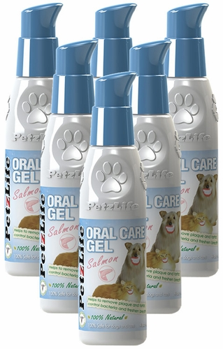 6-PACK Petzlife Oral Care Gel w/ Salmon Oil (24 oz)