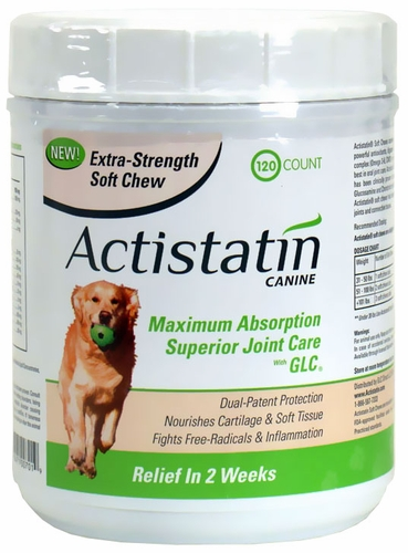 Actistatin Canine Extra Strength Soft Chews Large 120 Ct