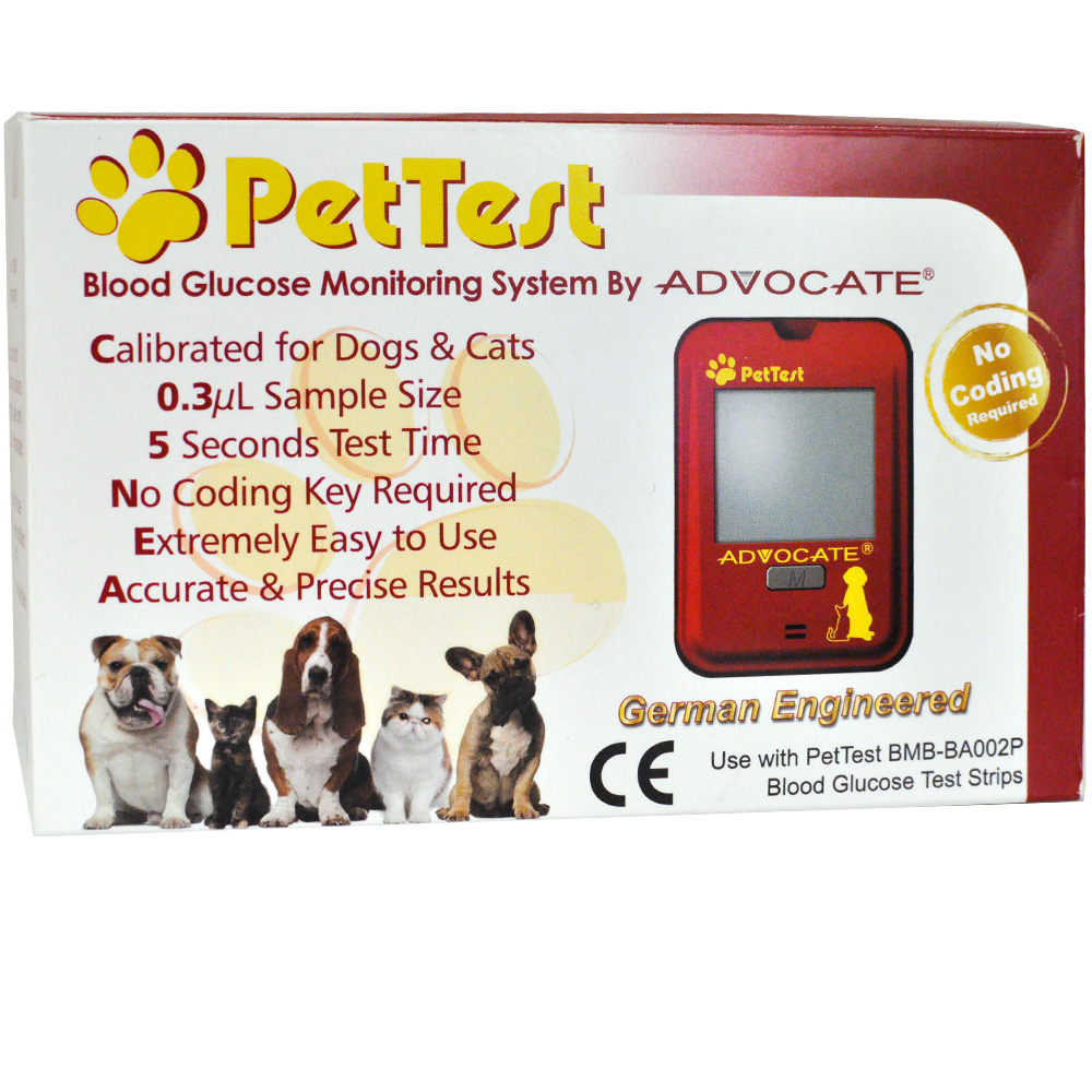 Advocate 174 Pettest Blood Glucose Monitoring Kit Healthypets