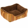 "Aspen Pet Rectangular Lounger (17"" x 20"") - Stripe Chenille"