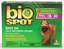 Bio Spot - SMALL for Dogs 16 to 30 lbs (6 month supply)