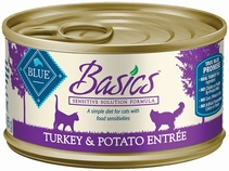 Blue Buffalo Basics Turkey & Potato Recipe (24x3oz)