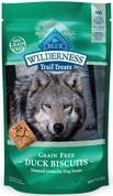 Blue Buffalo Wilderness Duck Biscuits Dog Treats (10 oz)