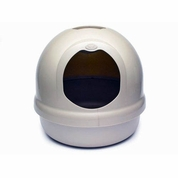 Booda Dome Covered Cat Litter Box Pearl