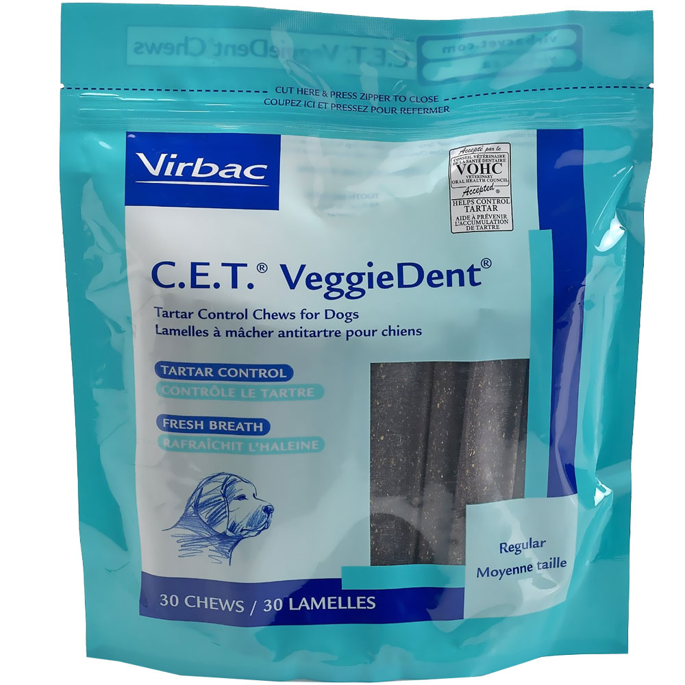 CET VeggieDent Chews Regular for Dogs (30 chews)