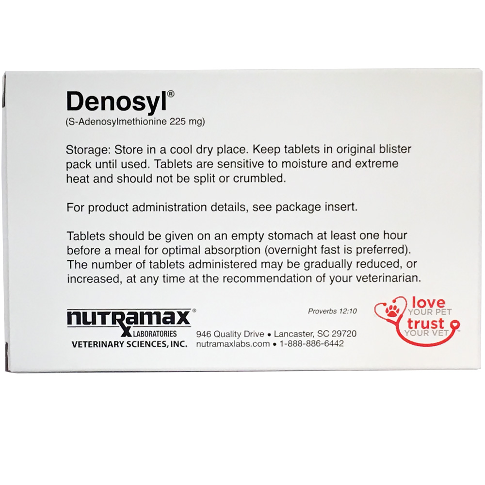 Denosyl  for dogs over 25 lbs (30 tablets) 225 mg