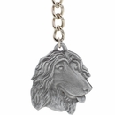 "Dog Breed Keychain USA Pewter - Afghan Hound (2.5"")"
