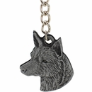"Dog Breed Keychain USA Pewter - Australian Cattle Dog (2.5"")"