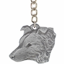 "Dog Breed Keychain USA Pewter - Border Collie (2.5"")"