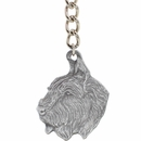"Dog Breed Keychain USA Pewter - Bouvier Des Flanders (2.5"")"