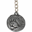 "Dog Breed Keychain USA Pewter - Chow Chow (2.5"")"