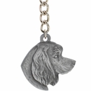 "Dog Breed Keychain USA Pewter - Cocker Spaniel (2.5"")"