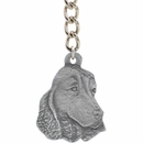 "Dog Breed Keychain USA Pewter - English Cocker Spaniel (2.5"")"