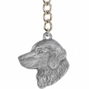 "Dog Breed Keychain USA Pewter - Golden Retriever (2.5"")"