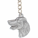 "Dog Breed Keychain USA Pewter - Irish Setter (2.5"")"