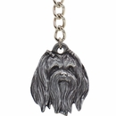 "Dog Breed Keychain USA Pewter - Maltese (2.5"")"
