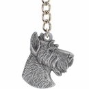 "Dog Breed Keychain USA Pewter - Miniature Schnauzer (2.5"")"