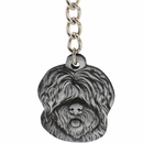 "Dog Breed Keychain USA Pewter - Old English Sheepdog (2.5"")"