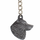 "Dog Breed Keychain USA Pewter - Schipperke (2.5"")"