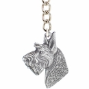 "Dog Breed Keychain USA Pewter - Scottish Terrier (2.5"")"