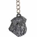 "Dog Breed Keychain USA Pewter - Soft-Coated Wheaten Terrrier (2.5"")"