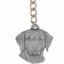 "Dog Breed Keychain USA Pewter - Weimaraner (2.5"")"