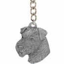 "Dog Breed Keychain USA Pewter - Welsh Terrier (2.5"")"