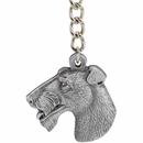 "Dog Breed Keychain USA Pewter - Wirehaired Fox Terrier (2.5"")"